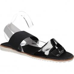 Sandały Casu LS84704P. Czarne sandały damskie marki Casu. Za 39,99 zł.