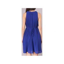 Sukienki krótkie See U Soon  8121121. Niebieskie sukienki mini marki See u Soon, s, z krótkim rękawem. Za 239,20 zł.