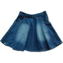 Nativo - Spódnica dziecięca 104-164 cm. Szare spódniczki dziewczęce jeansowe marki Nativo, midi, rozkloszowane. W wyprzedaży za 53,90 zł.