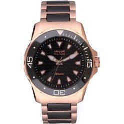 """Zegarki męskie: Zegarek kwarcowy """"Aristos"""" w kolorze czarno-różowozłotym"""