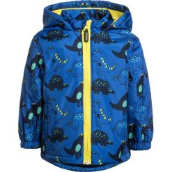 Mothercare DINO LINED BABY Kurtka przeciwdeszczowa lights multicolor. Niebieskie kurtki chłopięce przeciwdeszczowe mothercare, z materiału. Za 129,00 zł.