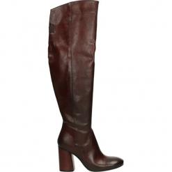 Kozaki - 950-B-56 S AM. Brązowe buty zimowe damskie Venezia, ze skóry. Za 599,00 zł.