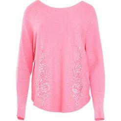Różowy Sweter Fantasma. Czerwone swetry klasyczne damskie Born2be, l, z okrągłym kołnierzem. Za 74,99 zł.