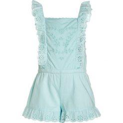 Odzież dziecięca: Polo Ralph Lauren EYELET ONE PIECE ROMPER Kombinezon crystal blue