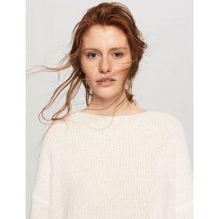 Sweter oversize - Kremowy. Białe kardigany damskie marki Reserved, l. Za 159,99 zł.