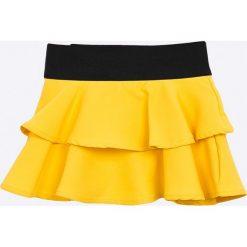 Trendyol - Spódnica dziecięca 98-128 cm. Żółte minispódniczki Trendyol, z elastanu, rozkloszowane. W wyprzedaży za 39,90 zł.