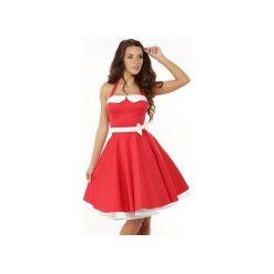 Sukienka rozkloszowana PIN UP ED01-8. Czarne sukienki na komunię marki Ella dora, xl, w koronkowe wzory, z koronki, z falbankami, dopasowane. Za 229,00 zł.