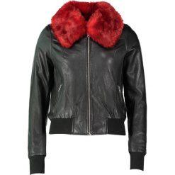 """Bomberki damskie: Skórzana kurtka """"Harlem"""" w kolorze czarnym"""