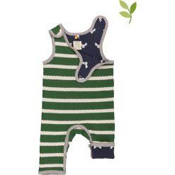 Pajacyki niemowlęce: Dwustronne śpioszki w kolorze zielono-granatowym