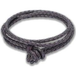 Bransoletki damskie: Skórzana bransoletka w kolorze fioletowym