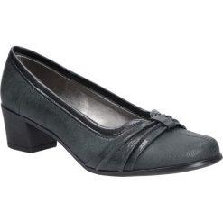 Popielate czółenka skórzane na niskim obcasie Casu 306. Szare buty ślubne damskie marki Kazar, ze skóry, na wysokim obcasie, na obcasie. Za 169,99 zł.