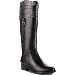Oficerki GEOX - D Felicity C D84G1C 0436Y C9999 Black. Szare buty zimowe damskie marki Geox, z gumy. W wyprzedaży za 559,00 zł.