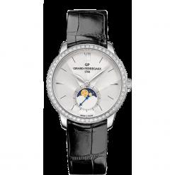 ZEGAREK GIRARD PERREGAUX 1966 AUTOMATIC MOON PHASES 49524D11A171-CK6A. Szare zegarki damskie GIRARD-PERREGAUX, szklane. Za 71390,00 zł.
