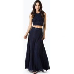 Swing - Damska sukienka wieczorowa, niebieski. Niebieskie długie sukienki marki Swing, w koronkowe wzory, z koronki, wizytowe, z długim rękawem. Za 749,95 zł.