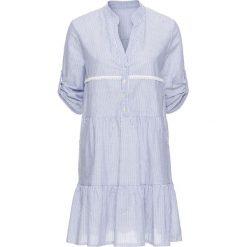 Sukienki hiszpanki: Sukienka koszulowa bonprix niebiesko-biały w paski