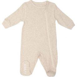Pajacyki niemowlęce: Śpiochy w kolorze beżowym