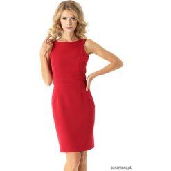 Dopasowana sukienka odcięta w pasie malinowa. Różowe sukienki balowe Pakamera, mini, dopasowane. Za 179,00 zł.