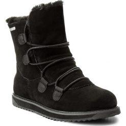 Buty EMU AUSTRALIA - Kamona W11551 Black. Czarne buty zimowe damskie marki EMU Australia, ze skóry, na niskim obcasie. W wyprzedaży za 459,00 zł.