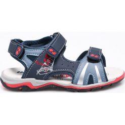 Hasby - Sandały dziecięce. Szare sandały chłopięce HASBY, z materiału. W wyprzedaży za 49,90 zł.