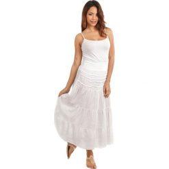 Spódnice wieczorowe: Lniana spódnica w kolorze białym