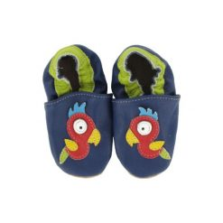 BaBice Buciki do raczkowania Papuga kolor niebieski. Niebieskie buciki niemowlęce marki BABICE, ze skóry. Za 69,00 zł.