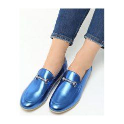 Mokasyny damskie: Niebieskie Mokasyny Imosa