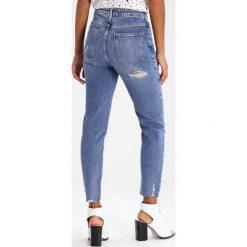 New Look LAURA Jeansy Slim Fit mid blue. Czarne jeansy damskie marki New Look, z materiału, na obcasie. Za 149,00 zł.