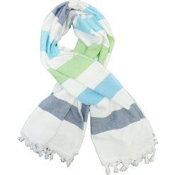 """Kąpielówki męskie: Fouta """"Jolly"""" w kolorze biało-niebieskim – 160 x 90 cm"""