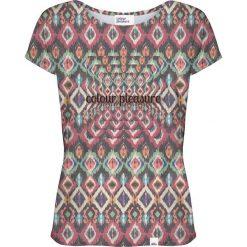 Colour Pleasure Koszulka damska CP-034 263 fioletowo-zielona r. XXXL/XXXXL. Fioletowe bluzki damskie marki Colour pleasure. Za 70,35 zł.