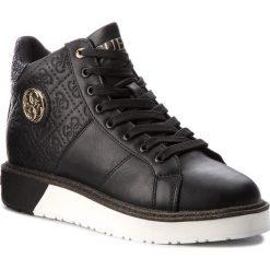 Sneakersy GUESS - FLDBY3 PEL12  BLACK. Czarne sneakersy damskie Guess, z materiału. Za 529,00 zł.
