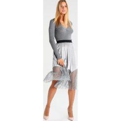 Spódniczki trapezowe: Navy London MILA Spódnica trapezowa silver