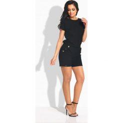 Kombinezony damskie: Elegancki krótki kombinezon czarny