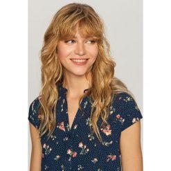Koszula w kwiaty - Niebieski. Białe koszule damskie marki Reserved, l, z dzianiny. Za 69,99 zł.