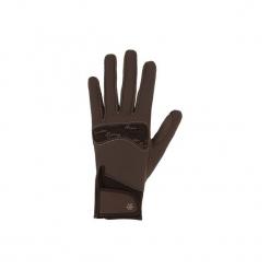 Rękawiczki jeździeckie Kipwarm. Brązowe rękawiczki męskie FOUGANZA, z poliamidu. Za 59,99 zł.