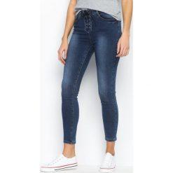 Spodnie damskie: Niebieskie Jeansy Tie A Knot