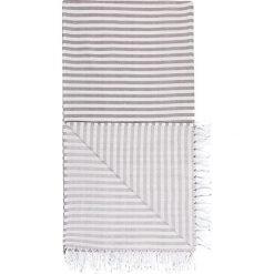 Kąpielówki męskie: Chusta hammam w kolorze antracytowo-białym – 180 x 100 cm