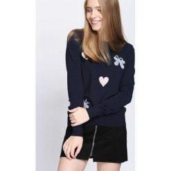 Granatowy Sweter Ohh Why?. Niebieskie swetry klasyczne damskie Born2be, l, z okrągłym kołnierzem. Za 59,99 zł.