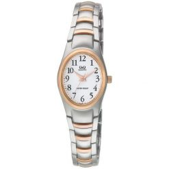Zegarki damskie: Zegarek Q&Q Damski F279-414 Biżuteryjny srebrny