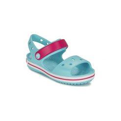 Sandały Dziecko  Crocs  CROCBAND SANDAL. Niebieskie sandały dziewczęce marki Crocs. Za 141,92 zł.