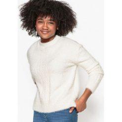 Sweter włochaty, 10-16 lat. Szare swetry chłopięce La Redoute Collections, z poliamidu, z okrągłym kołnierzem. Za 79,76 zł.