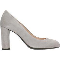 Czółenka IZO. Szare buty ślubne damskie Gino Rossi, ze skóry, na słupku. Za 199,90 zł.
