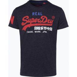 Superdry - T-shirt męski, niebieski. Niebieskie t-shirty męskie z nadrukiem Superdry, m, z dżerseju. Za 149,95 zł.