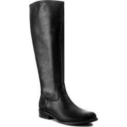 Oficerki ŁUKBUT - 726 Czarny. Czarne buty zimowe damskie marki Łukbut, ze skóry, na obcasie. W wyprzedaży za 289,00 zł.