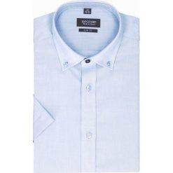 Koszula bexley 2502 krótki rękaw slim fit niebieski. Niebieskie koszule męskie slim Recman, m, z krótkim rękawem. Za 69,99 zł.