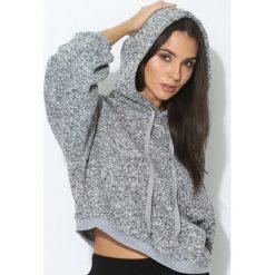 Bluzy damskie: Szara Bluza Loose Sleeves