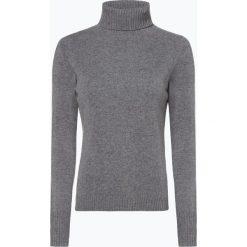 Franco Callegari - Damski sweter z wełny merino, szary. Zielone golfy damskie marki Franco Callegari, z napisami. Za 229,95 zł.