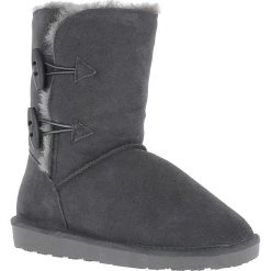 """Buty zimowe damskie: Skórzane kozaki """"Hubbard"""" w kolorze antracytowym"""