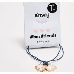 Bransoletki damskie na nogę: Bransoletki best friends dla przyjaciółek - Granatowy
