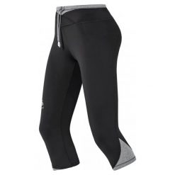 Legginsy damskie do biegania: Odlo Legginsy Do Biegania Hana 3/4 Tight Black Xs