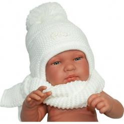 Czapka niemowlęca z szalikiem CZ+S 007A. Szare czapeczki niemowlęce Proman. Za 40,78 zł.